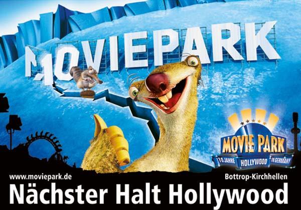 Sympathieträger des Movieparks in Bottrop, Sid aus Ice Age