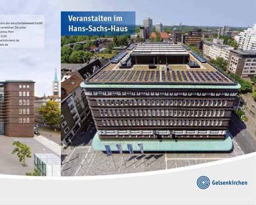 Layout der Broschüre für Veranstaltungen im HSH Gelsenkirchen