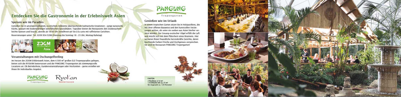Layout einer Imagebroschüre für die Gastronomie, Teil 1