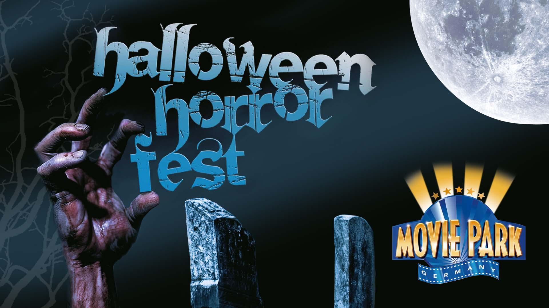 Entwurf des Halloween Logos für den Movie Park