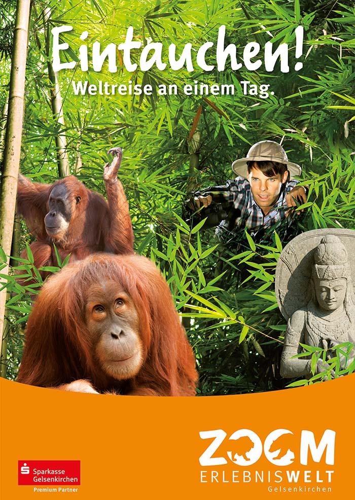 Kampagnenmotiv für die Erlebniswelt Asien
