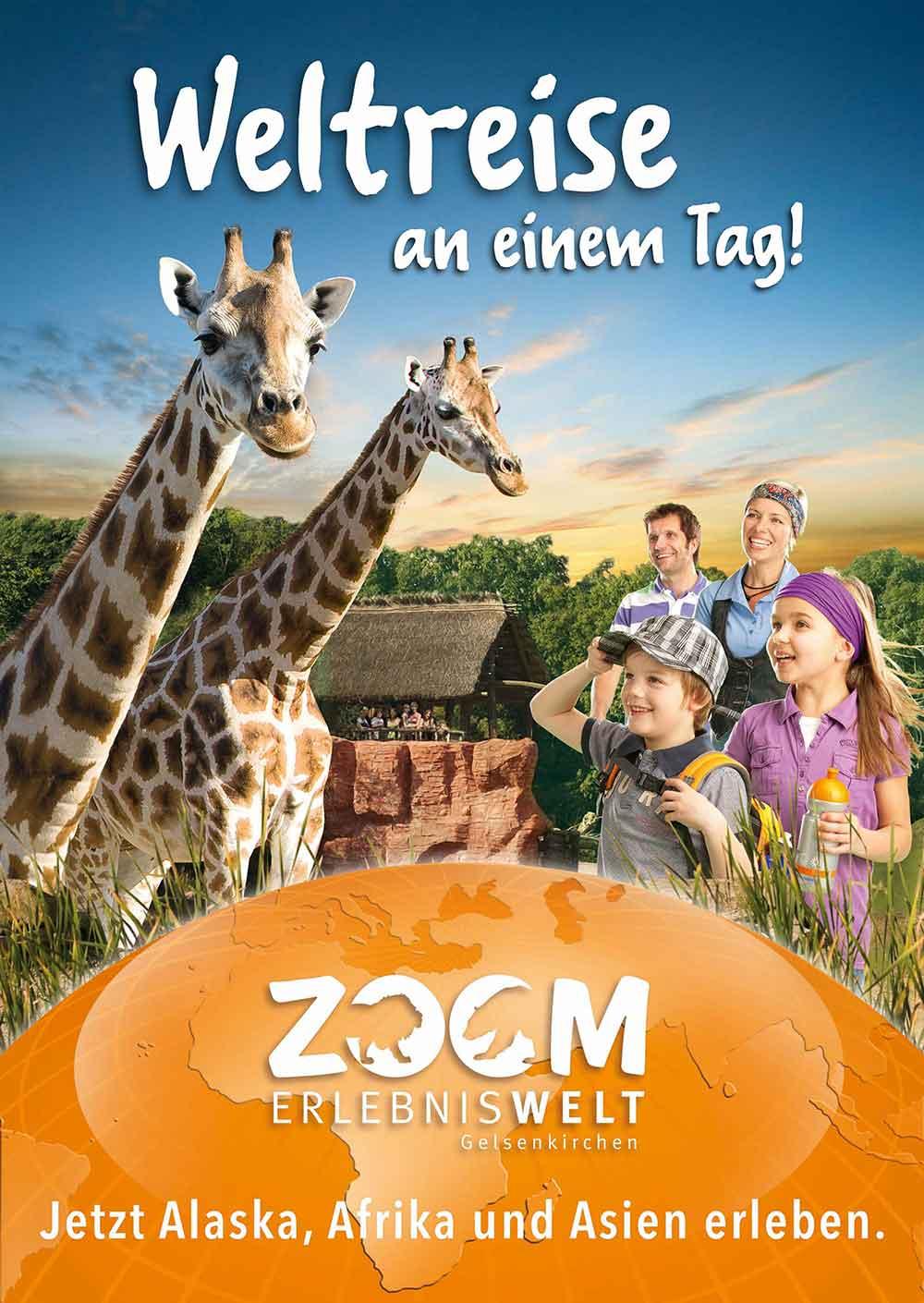 Werbekampagne für die ZOOM Erlebniswelt