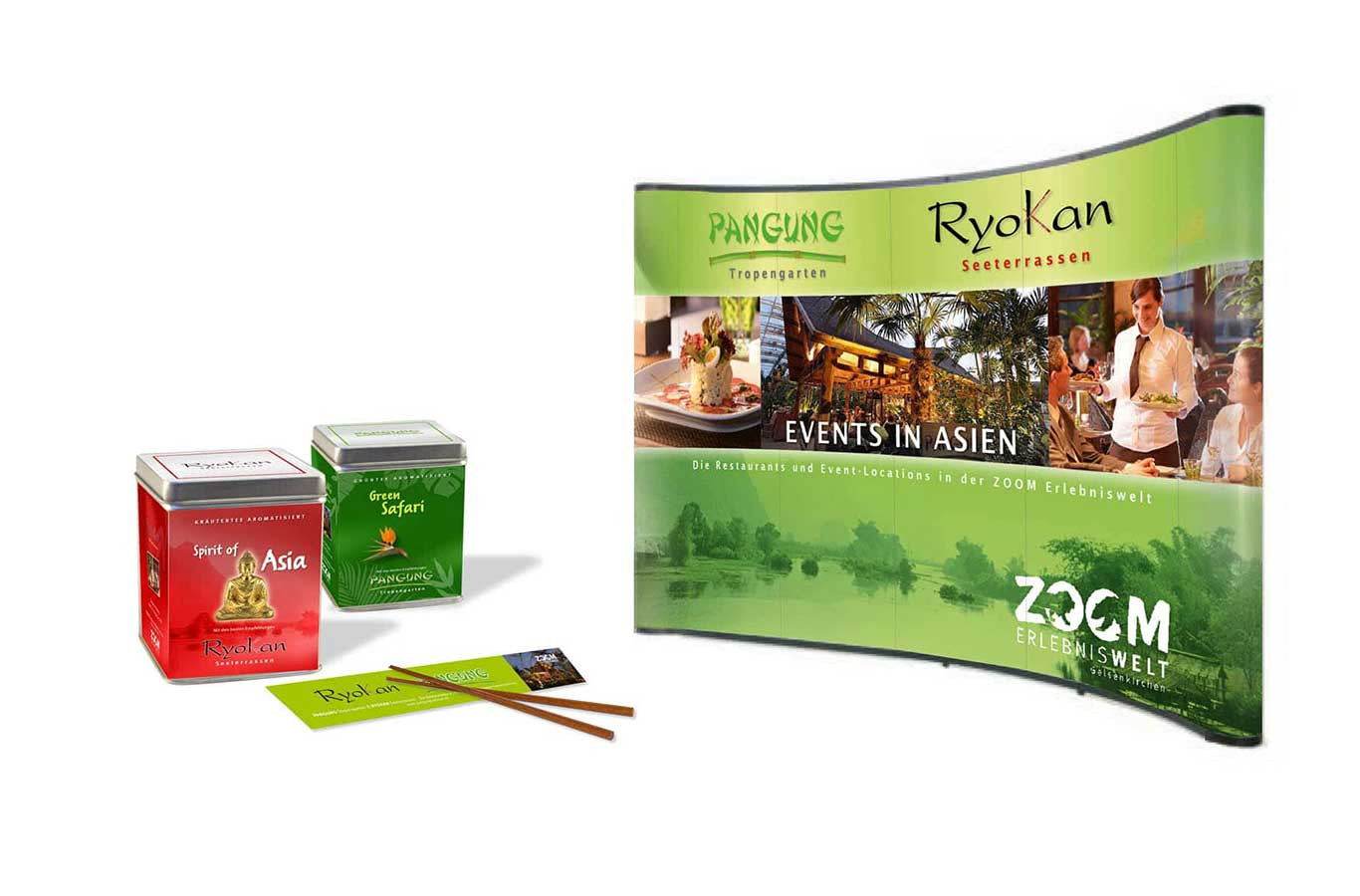 Corporate Design Ryokan der Zoom Erlebniswelt