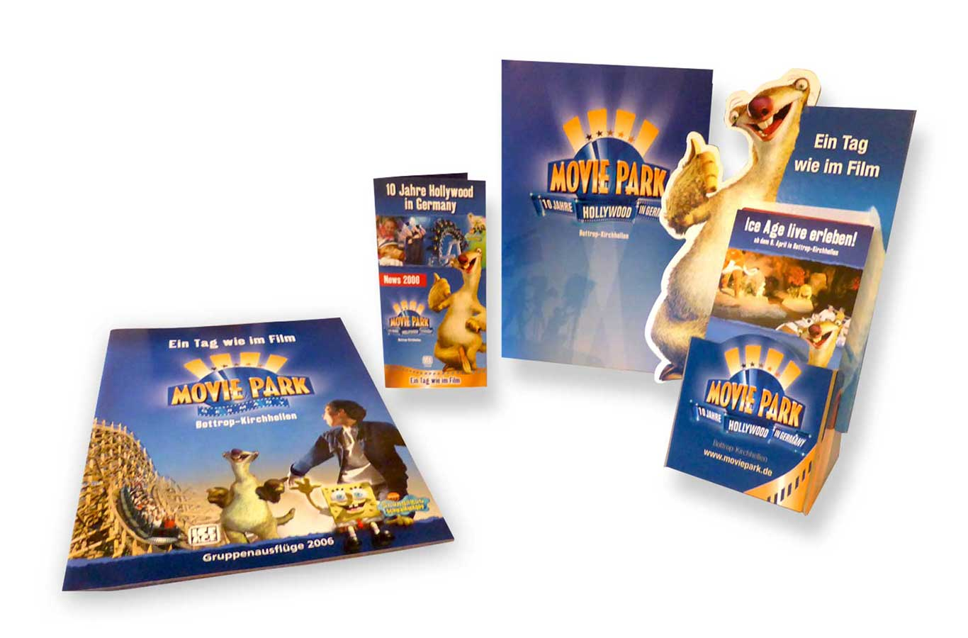 Corporate Design Moviepark Germany, Printmedien