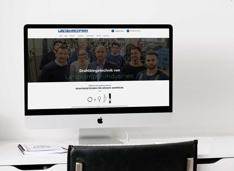 Relaunch Website Lenzkämper Industries