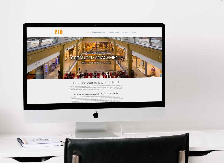 EKO Gebäudemanagement auf dem iMac