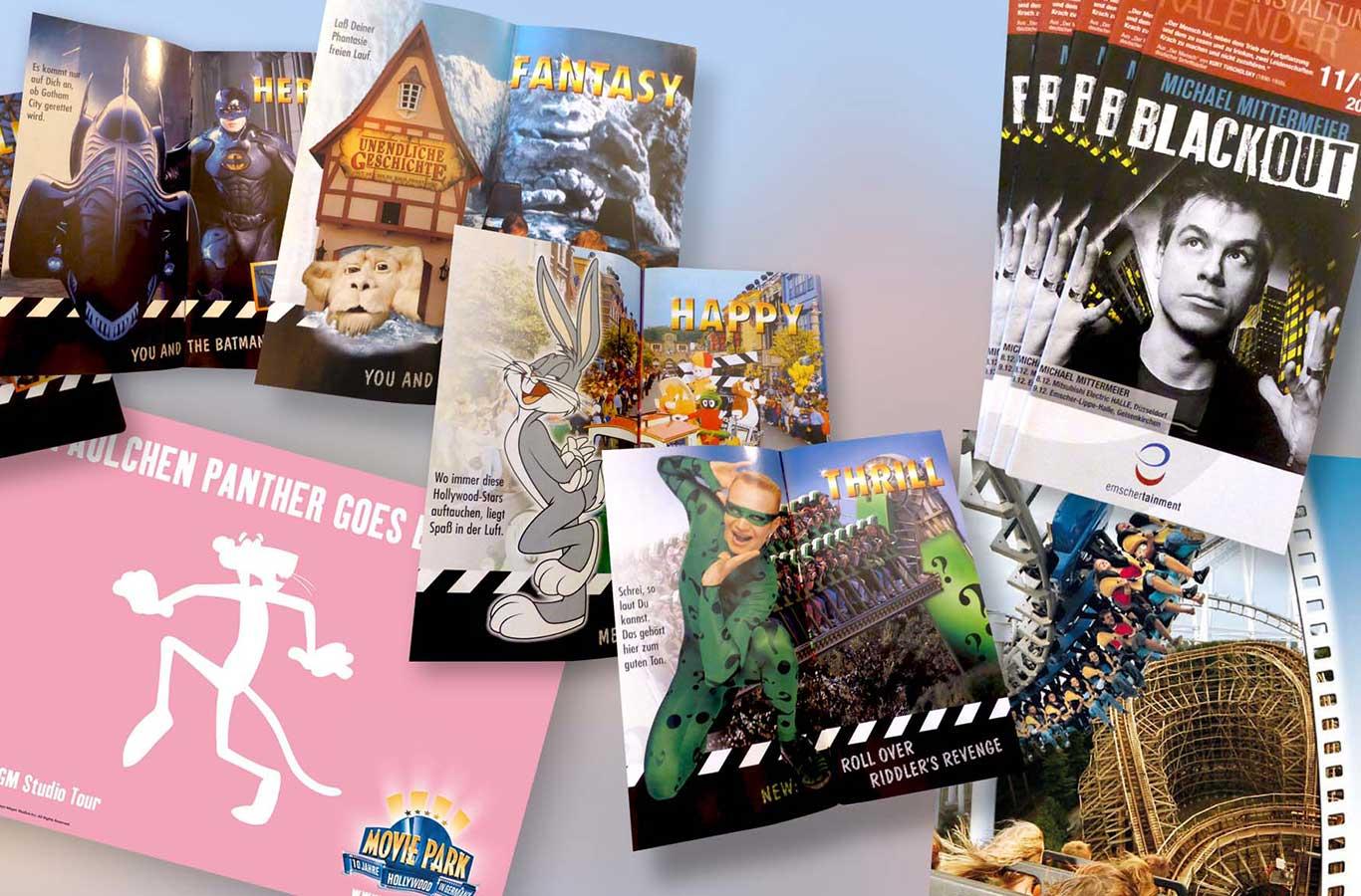 Klassische Werbung mit diversen Printmedien