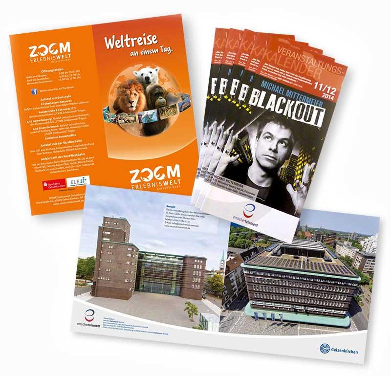 Printmedien für die Stadtwerke Gelsenkirchen