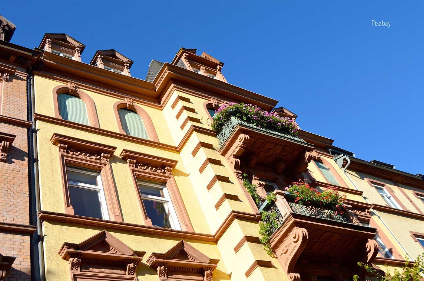 Häuserfront, Webdesign für eine Hausverwaltung