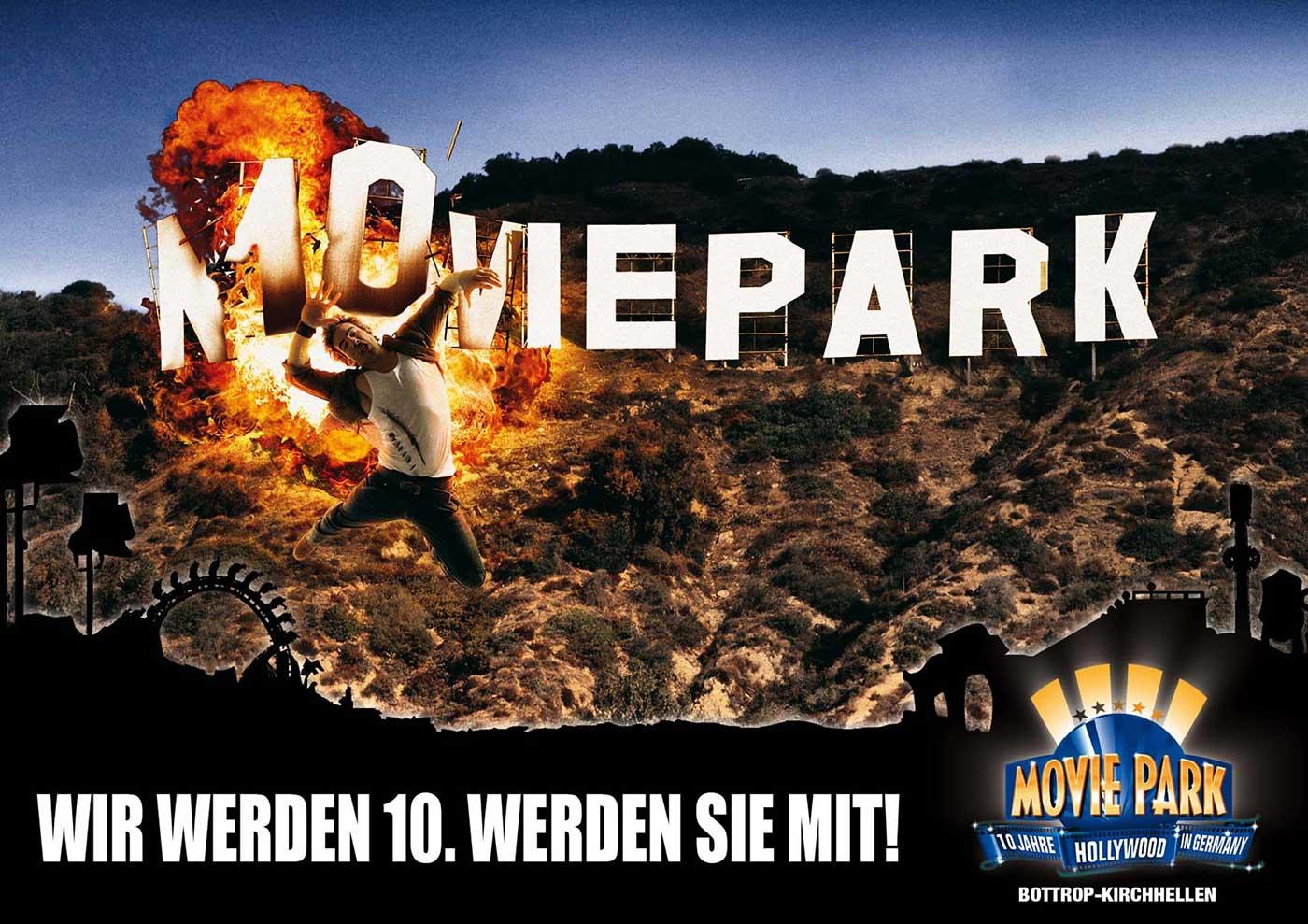 Aussenwerbung Movie Park Germany, Stuntshow