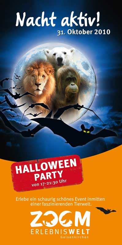 Flyer für Halloween Event - Marketingservice Dortmund